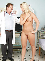 Shaved cunt of gyno lady Lilight Lee is nicely fucked by her doctor
