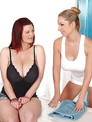 Lesbian milf Carol is doing a hot massage to her girlfriend Vanessa