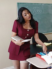 Milf teacher Mika Tan is giving a good sex lesson to her student