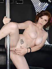 Delicious striptease by babe Mary Jane Mayhem with big natural tits