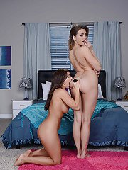 Lesbians Abigail Mac and Mia Malkova have sweet time in the bedroom