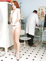 Kind Denisa Heaven undresses and obeys to every doctors wish