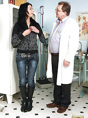 Stylish babe Gabina came to her doctor and got drilled hard