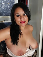 Fabulous Latina milf Lucey Perez is demonstrating her fatty body