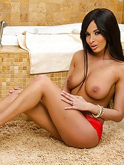 Incredible dark haired wife Anissa Kate has her big boobies shown