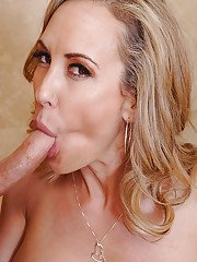 Brandi Love taking a shower with her friend and enjoying his dick