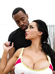 Interracial couple fucking hard featuring Amy Anderssen