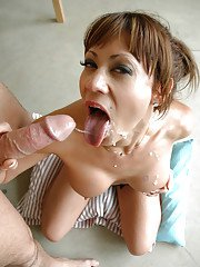 Nasty big dick milf Stephanie gives a blowjob and fucks that guy