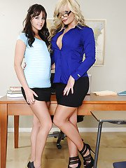 Sweet big ass babes Hope and Phoenix in lesbian undressing