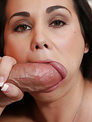 Latina milf Holly is a nasty brunette that loves deep blowjobs
