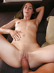 Awesome girlfriend babe giving a foot job and being banged deep