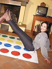 Beautiful teens Chiara and Imma love to play with their feet