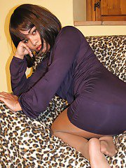 Ebony Latina girl with a big ass Dafne showing her sexy legs
