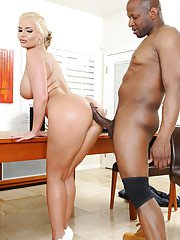 Adorable blonde whore Phoenix loves to have an interracial sex