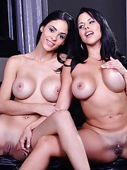 Latina brunette babes Diamond and Jasmine are ready for some sex