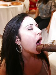 Smooth looking babes are giving hot looking sloppy blowjobs