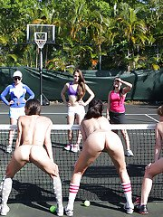 Lesbians are having some fun on the tennis court like always