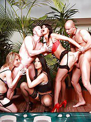 A good orgy with Yasmine should always have two guys and three babes