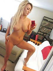 Embry Prada is masturbating while self shooting herself in a mirror