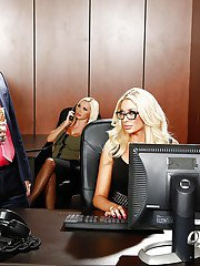 Office groupsex with Courtney Taylor Nikki Benz Nina Elle and Summer Brielle