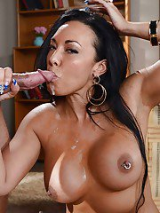 Reality milf Rio Lee has her big natural tits teased and pussy fucked