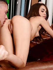 Riley Reid showing some passion during sex and gets owned hard