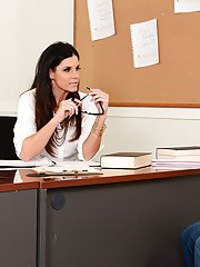 Teacher India Summer gives some extra lessons to her student