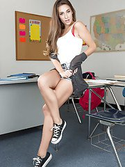 Cassidy Klein is one naughty student that likes to get naked
