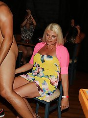 Slender babes are sucking huge dick while partying hard with a stripper