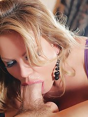 Amateur mature Kelly Madison has her mouth fucked in a lingerie