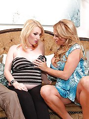 Blonde fatty Tegan has her milf cunt pounded in a hardcore groupsex