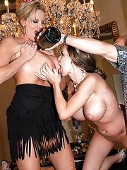 Latina girl Jenna Presley takes part in a swingers groupsex