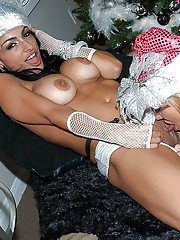 Christmas swingers party features hardcore groupsex of Persia Pele