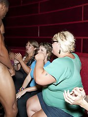 Interracial clothed party with horny girls and sexy strippers