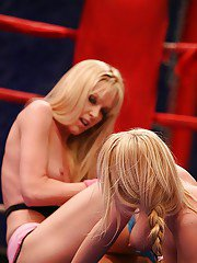 Hot catfight scene with a blonde milf Sophie Moone and Antonya