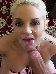 Hardcore sex scene with a blonde cowgirl Tiamcken Zie and her masseuse