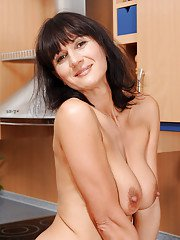 Undressing scene features an marvelous brunette milf Chelsea