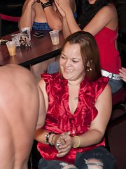 Clothed party features first class blowjobs from drunk girls