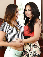 Sexy girls with cute tits Holly and Zoey are damn pretty lesbians