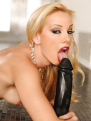 Amazing babe with hairy pussy Sandy pokes her hole with a dildo