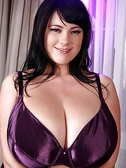 Brunette fatty with big natural tits Rachel Aldana shows off in a lingerie