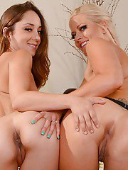 Holle Heart has her lesbian milf ass teased by Remy LaCroix