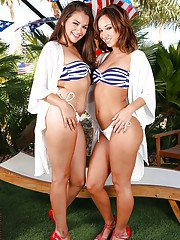 Lesbian wife Sovereign Syre enjoys an relaxing massage from her gf