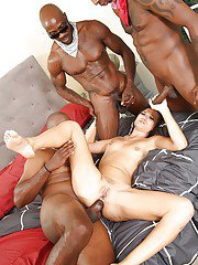 Asian brunette Cece Stone takes part in an Interracial groupsex
