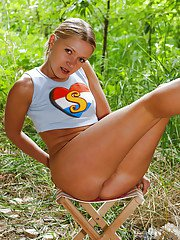Outdoor masturbating from a tremendous teen babe Diana J and her toys