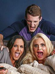 Big tits reality milfs Ava Addams and Phoenix Marie in a threesome