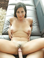 Close up hardcore gonzo sex scene with hairy chick Sofia Rivera