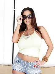 Close up undressing session features Latina babe with big tits Ava Addams