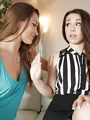 Lesbians Dani Daniels and Lola Foxx are fucking and kissing so hot