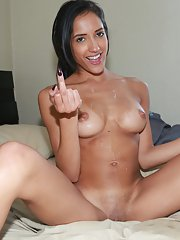 Chloe Amour is giving a good deep blowjob with cum swallowing